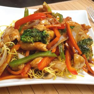 Crispy Egg Noodle Chicken
