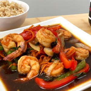 Thai Basil Stir Fry Shrimp